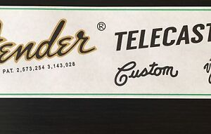 Restoration-Guitar-Waterslide-Decal-for-70-039-s-Style-Fender-Telecaster-x2