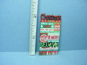 Dollhouse Miniature Christmas Wooden Wall Sign Laser Creations 1/12th Scale
