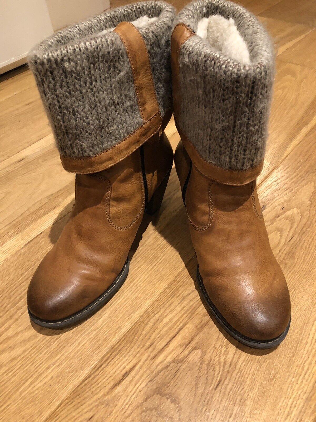 Rieker para para para mujer botas Tostado (EU41 Excelente Estado)  Web oficial