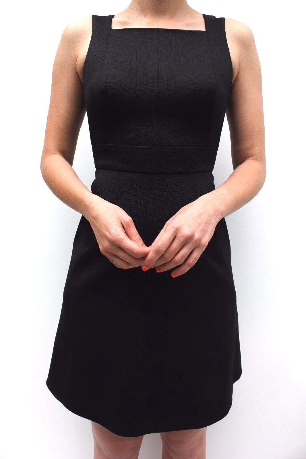 Karen Millen schwarz Feminin Ausgeschnitten Cocktail Shift Mini Partykleid 8 - 12