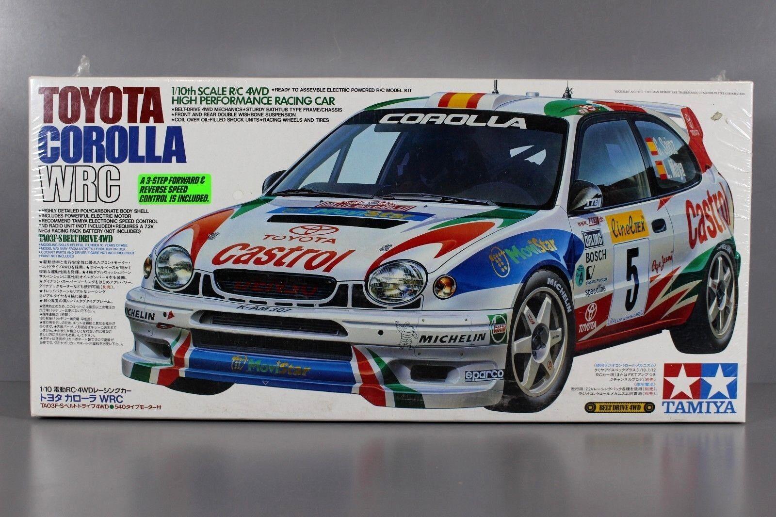 Rare Edition  New Tamiya RC 1 10 Toyota Corolla WRC Castrol 4WD TA-03R 58218