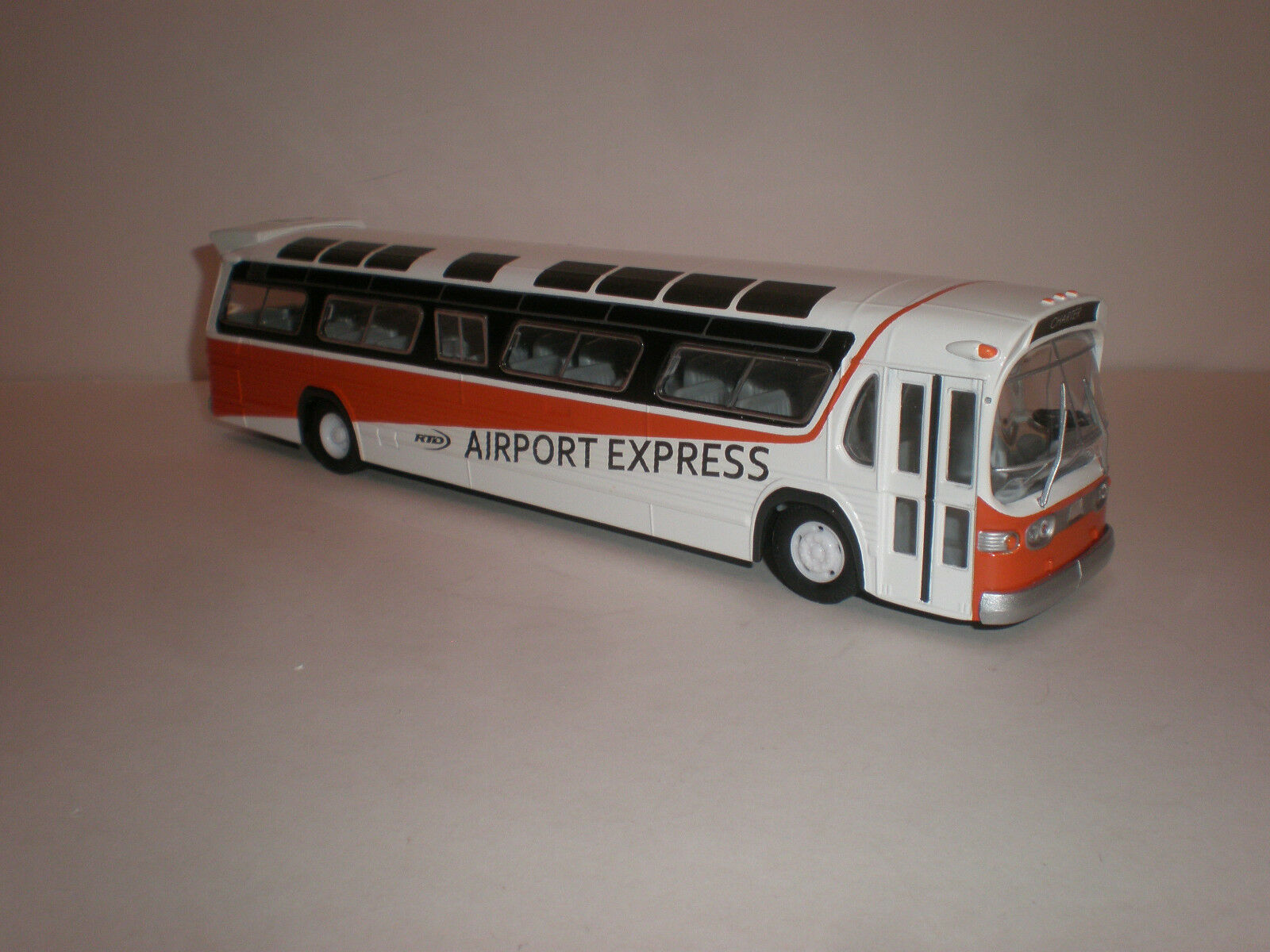 1/50 Corgi bus Fishbowl RTD  Airport Express  custom painted
