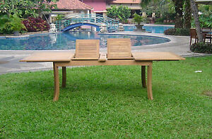 117 RECTANGLE TABLE - A GRADE TEAK WOOD GARDEN OUTDOOR DINING FURNITURE PATIO