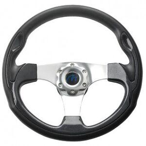 Boat Steering wheel Sports Wheel Black Carbon 350 mm Power Boat Boss Kit New