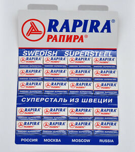 100-RAPIRA-SWEDISH-SUPERSTEEL-DOUBLE-EDGE-CLASSIC-SAFETY-RAZOR-BLADES-FREE-GI