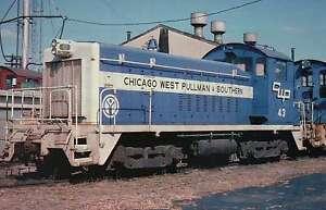 Chicago W.P /& Southern,EMD Switcher 1981 Railroad Train Postcard West Pullman