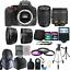 Nikon-D5600-24-2-MP-D-SLR-Camera-18-55mm-70-300mm-Lens-amp-24GB-Accessory-Kit