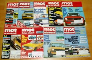 9x-MOT-1976-auto-journal-Oldtimer-Automobile-Sammlung-alt-Zeitschriften-Sammlung