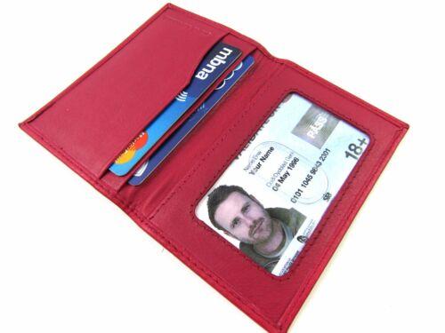 Unisex PORTA CARTE DI CREDITO Premium Super Morbida pelle carta di credito ID Card