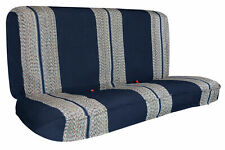 Blue Pickup Bench Saddle Blanket Universal Car Seat Covers For Full Size Truck