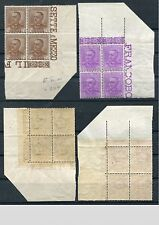ITALY 1928 KING MNH CORNER MARGINAL Set BLOCKS x4 Stamps (2) cat EURO 300