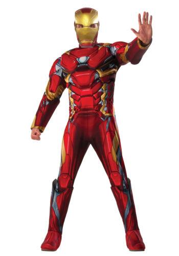 Adult Deluxe Iron Man Costume Avengers Men/'s Size Standard