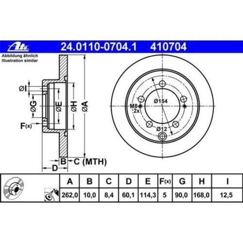 UAT 24.0110-0704.1 Disques de frein 2 pièces pour MITSUBISHI