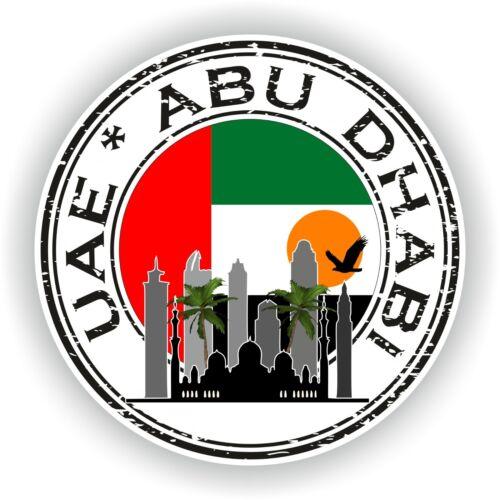 Emirati Arabi Uniti ABU DHABI STAMP PARAURTI COCCARDA PER COMPUTER PORTATILE PER AUTO CAMION PORTA LIBRO