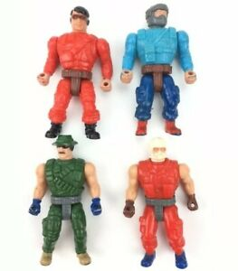 Vintage-Mattel-Men-of-Medal-2-Tall-Action-Figure-Soldier-Lot-1988-Malaysia-M-I
