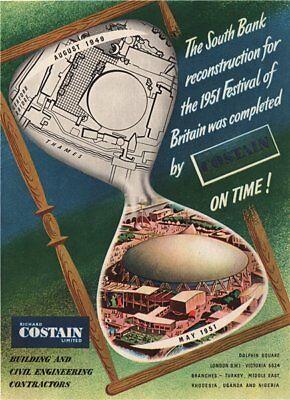 VINTAGE ADVERT EXHIBITION FESTIVAL BRITAIN 1951 NEW ART PRINT POSTER CC4649