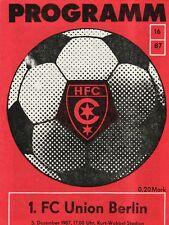 OL 87/88   HFC Chemie - 1. FC Union Berlin