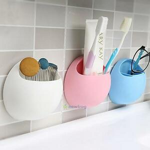3pcs//set Toothbrush Suction Holder Rack Cover Wall Mount Stand Home Healthy