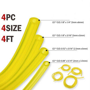 4-sizes-Fuel-pipes-Yellow-Hose-Tube-Pipe-Tubing-Trimmer-Chainsaw-Tools
