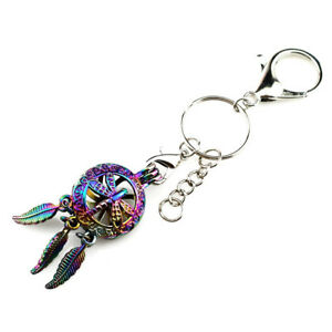 Y709-COLORFUL-Dragonfly-Dream-Catcher-Keychains-Key-Ring-Pendant