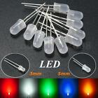 3mm/5mm Red White Green Blue Round Top Emitting Diffused LED Diode Light Kit