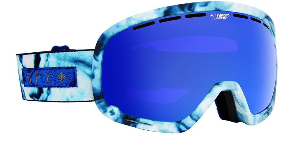 Spy Optic Marshall Marbled Blau Ski Snowboard Goggle + Bonus Lense