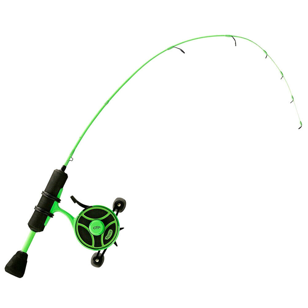 13 Fishing Radioactive Pickle Ice Fishing Combo Left Hand 27  Light RP2-27L-LH