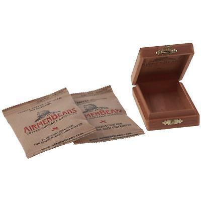 Airmenbeans 42 Caffè Tavolette Cedro Confezione Set Coffee Guarana Holzkisterl-