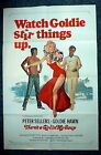 THERE'S A GIRL IN MY SOUP Original 1970s One Sheet Movie Poster Goldie Hawn