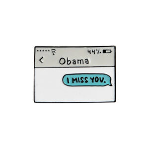 Details about Funny I Miss You Obama Lapel Pin Enamel Brooch Spoof Anti  Trump Fashion Jewelry