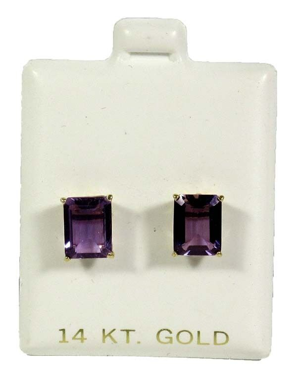 Genuine 4.90 carats Amethyst 14k Yellow gold Earrinngs FREE SHIPPING  APPRAISAL