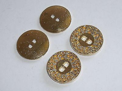8 Stück Metallknöpfe Knopf Knöpfe Trachtenknopf 15 mm gold NEU rostfrei 0109.1