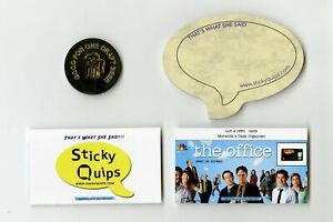 """""""The Office"""" used prop Penalty Box Bar Token Sticky Quips Speech Bubble/Balloon"""