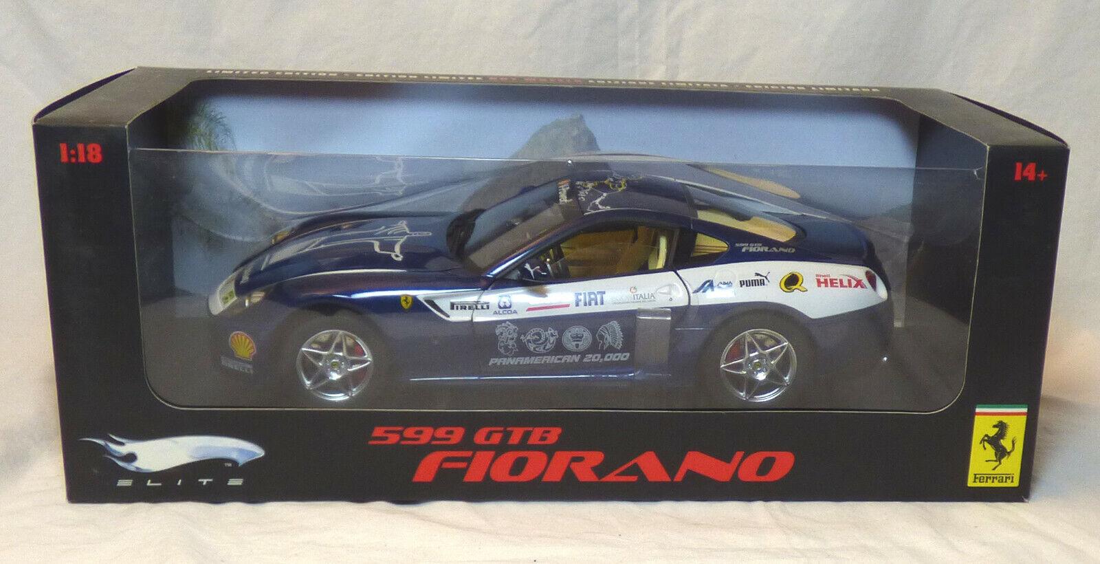 Hot Wheels Elite Ferrari 599 GTB Fiorano 1 18  NEUF  boîte scellée