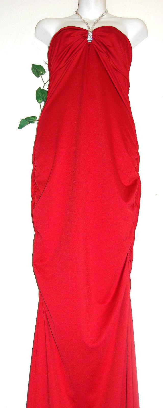 Född i Hollyträ röd Casual Clubwear Woherrar Dress Storlek L NEW