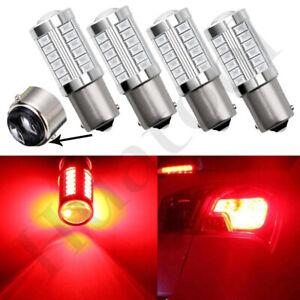 4Pcs-Red-BAY15D-1157-33-SMD-LED-Bulbs-Turn-Signal-Tail-Brake-Backup-Light-12V