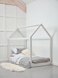 Cox & Cox House Bedoom Modern White Bed - RRP £275