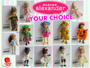 LOOSE-NO-TAG-McDonald-039-s-2003-MADAME-ALEXANDER-Doll-HALLOWEEN-Wedding-PICK-TOY