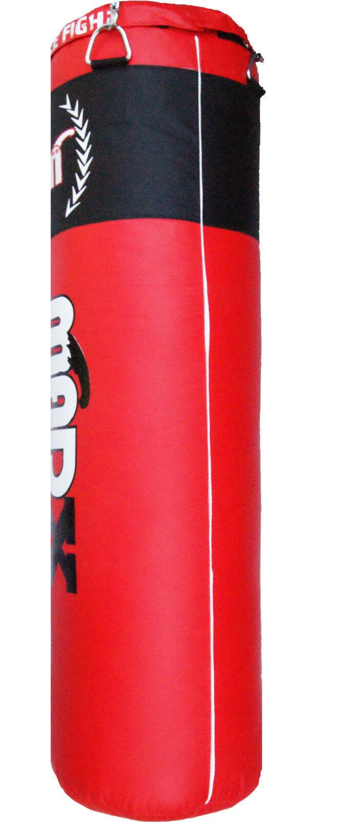 Madx 5ft Rojo filled Saco de boxeo, CADENA Boxeo Bolsa Patada, entrenamiento, ,