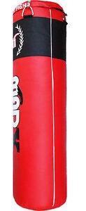 Madx-5ft-Rouge-Rempli-Sac-de-Frappe-Chaine-Boxe-Entrainement-Boxe-Gym