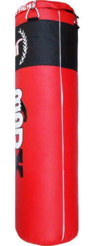 Formazione ca. 1.83 m Catena Kickbag BOXE Boxe palestra Rosso Vacanti Punch Bag MADX 6 FT