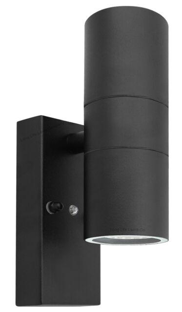 Black Outdoor up Down Wall Light Dusk Till Dawn Sensor ...