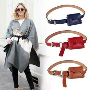 ffce9837bca Women Waist Bag PU Leather Belt Pouch Travel Fanny Pack Small Purse ...