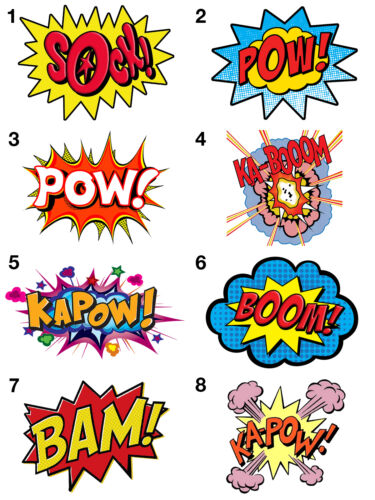 Comic Action Stickers Wall Decoration DIY Arts /& Crafts