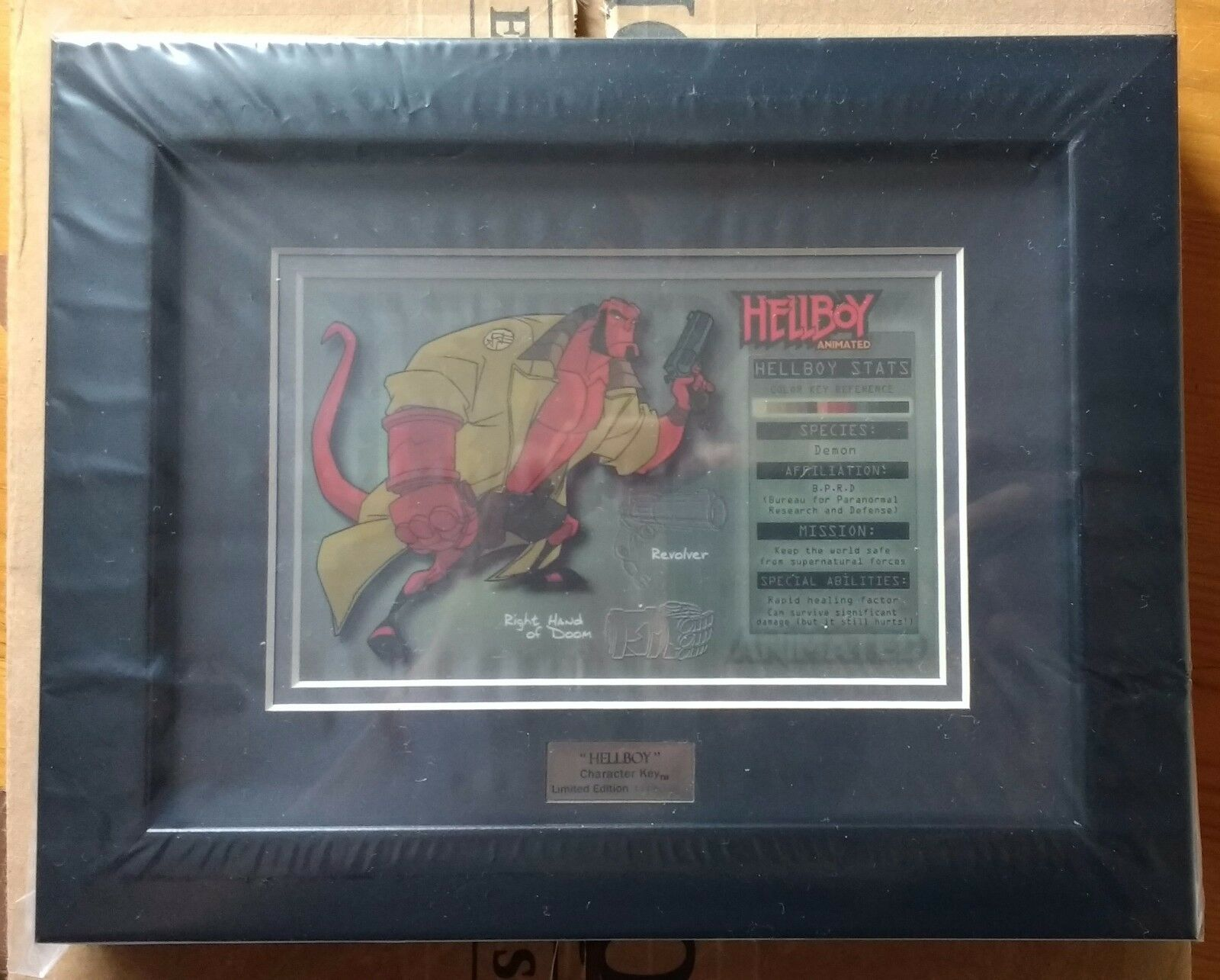 Hellboy Framed Character Key - 111 500 - Sideshow Collectibles Great Number