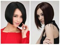 New Straight Short Wigs For Black Women Fashion Anime Cosplay Full Wigs+Wig Cap