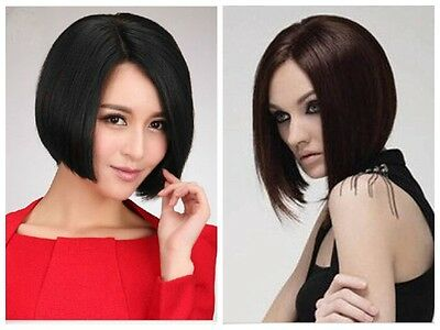 Hot Bob Sexy Fashion Womens Short Straight Hair Full Wig Cosplay Party Wigs+Gift