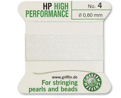 HP Haute Performance de soie blanche Cordage Filetage 0.3 mm Griffin Taille 0-FT799