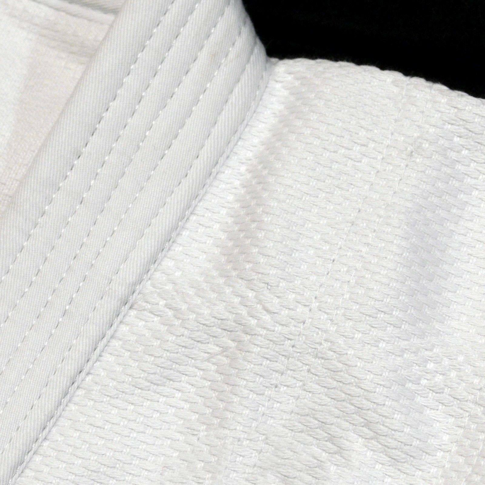BZ White Super  Judo GI Training Complete Uniform with free belt    000-6 size