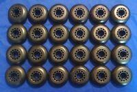 Lot Of 24 Rollerblade Inline Fitness Hockey Skate Wheels 70mm 82a